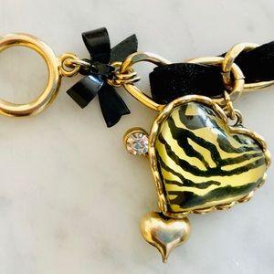 Velvet and Chain Betsey Johnson Bracelet.